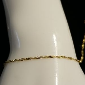 14kt yellow gold anklet